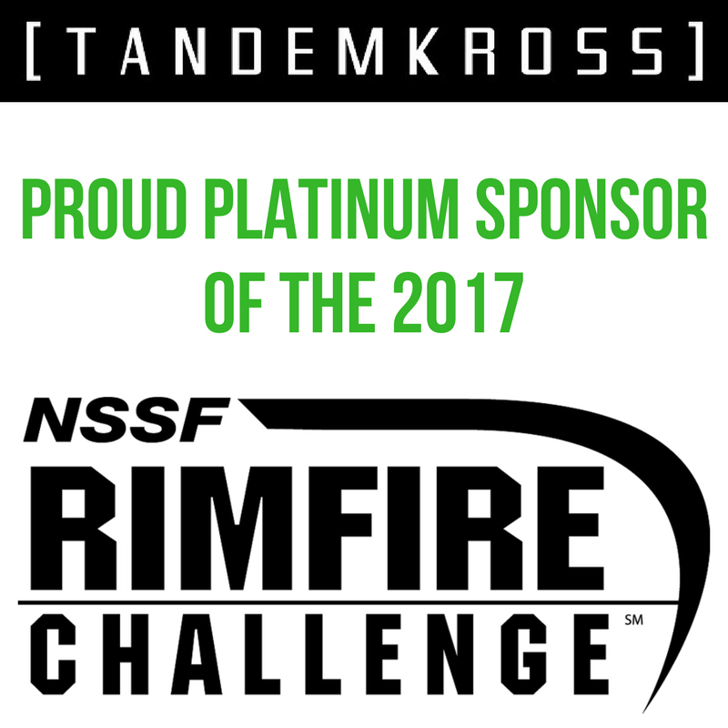 TANDEMKROSS Announced as 2017 Platinum Sponsor of NSSF Rimfire Challenge Program