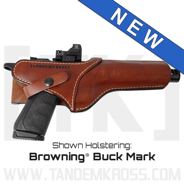"""SideSlinger"" Scoped Leather Holster Browning Buck Mark thumbnail"