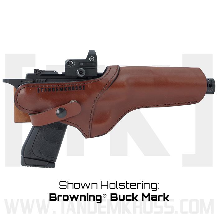 """SideSlinger"" Scoped Leather Holster Browning Buck Mark thumbnail"