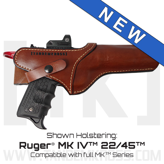 """SideSlinger"" Scoped Leather Holster for the Ruger(R) MK Series thumbnail"