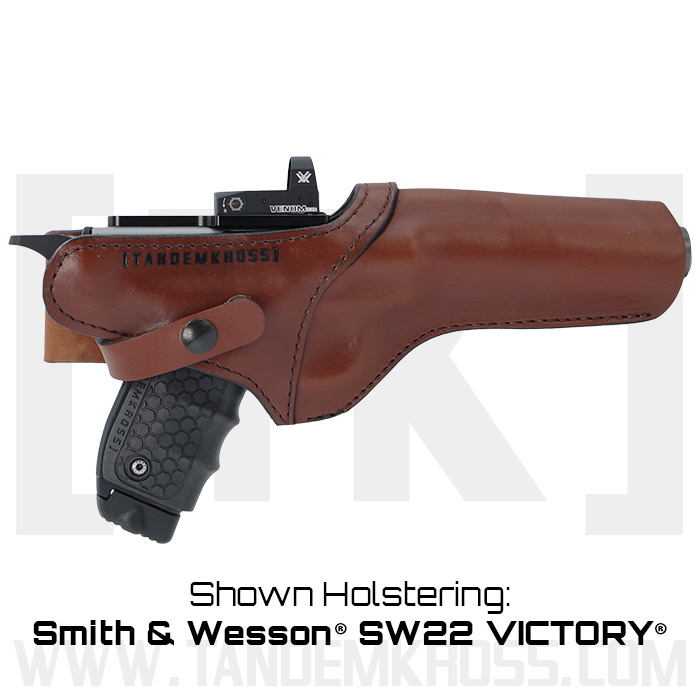 """SideSlinger"" Scoped Leather Holster SW22(R) Victory(TM) 22LR thumbnail"