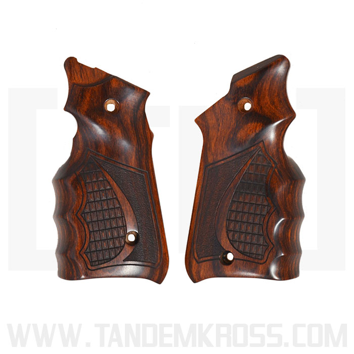 Altamont Co. Ruger(R) MKIV(TM) Grips - Finger Groove Crocback/Stippled - Super Rosewood thumbnail