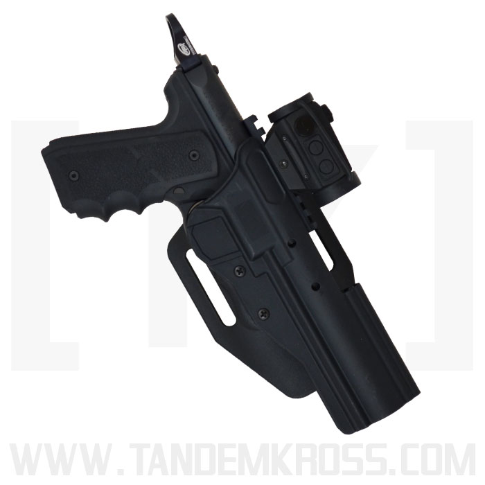 BlackDog Red Dot / Scoped Holster HIGH RIDE for MK Series & SW22® Victory™