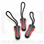TANDEMKROSS Zipper Pulls - Black and Red