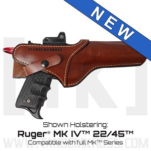 """SideSlinger"" Scoped Leather Holster for Ruger® MK Series"