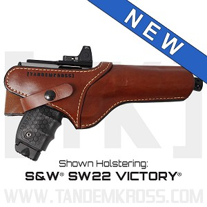 """SideSlinger"" Scoped Leather Holster for SW22® Victory™"