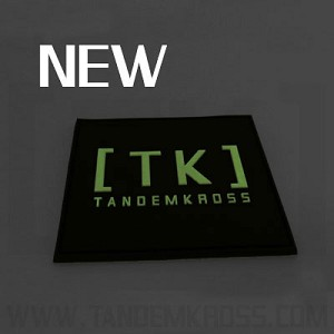 TANDEMKROSS  PVC , Velcro, Glow in the Dark Patch ( 3x3 inches )